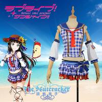 [STOCK]2017 Anime Love Live Sunshine! Aqours Kurosawa Dia Beach Awaken Unifrom Cosplay Costume For Halloween Free Shipping