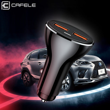 Cafele Moible Car Charger for Samsung iPhone Xiaomi Huawei Dual USB Mini Adapter Micro Phone 12V