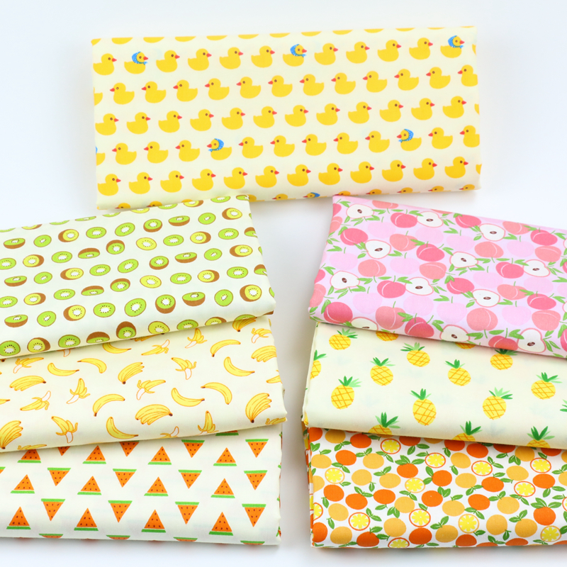 2019 Fashion Half Meter Fruits Printed Cotton Fabric For Baby Bedding Pillows Blankets Cushions Sewing Fabric Material Telas To Patchwork D30 Arts,crafts & Sewing