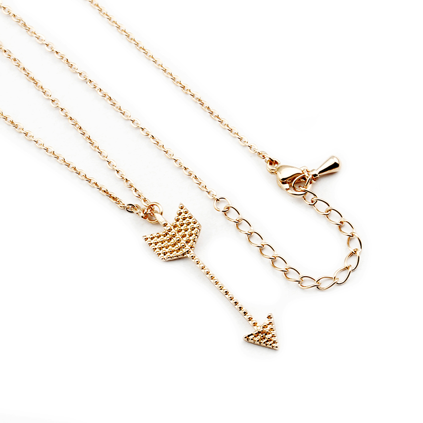 Boho Jewelry Rose Gold Simple Arrow Pendant Necklaces Women Stainless Steel Chain Geometric Southwest Necklace Gift For Her