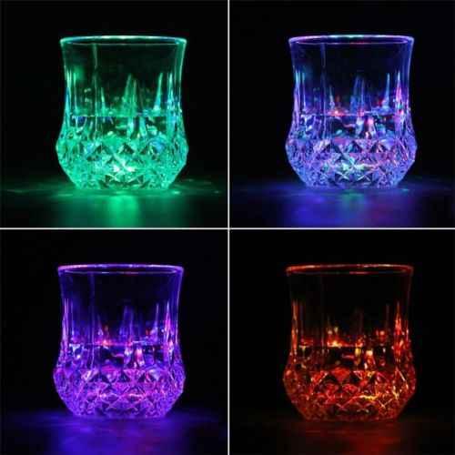 JN/_ LED Light Flashing Decor Beer Cup LED Rainbow Color Glow Mug Drink Club DI