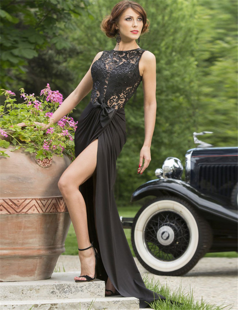1030 Fashion Trend Black Dress Sleeveless O neck Floor length Sequin Dress  Back Hollow Out Elegant Maxi Party Dress-in Dresses from Women s Clothing  on ... f822b96a6