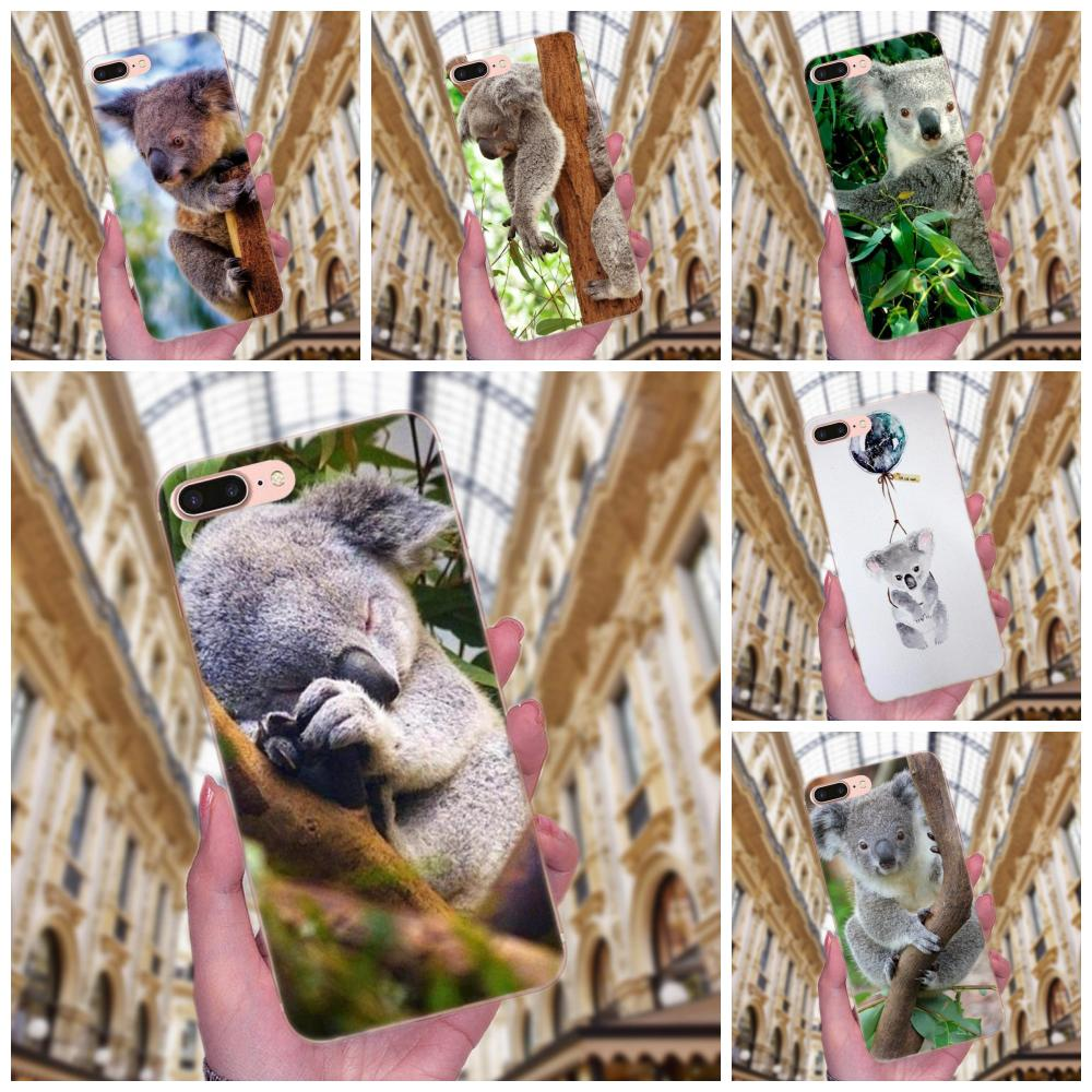 Animal The Koala Portrait Soft TPU New Style Unique For Samsung Galaxy Note 5 8 9 S3 S4 S5 S6 S7 S8 S9 S10 mini Edge Plus Lite image