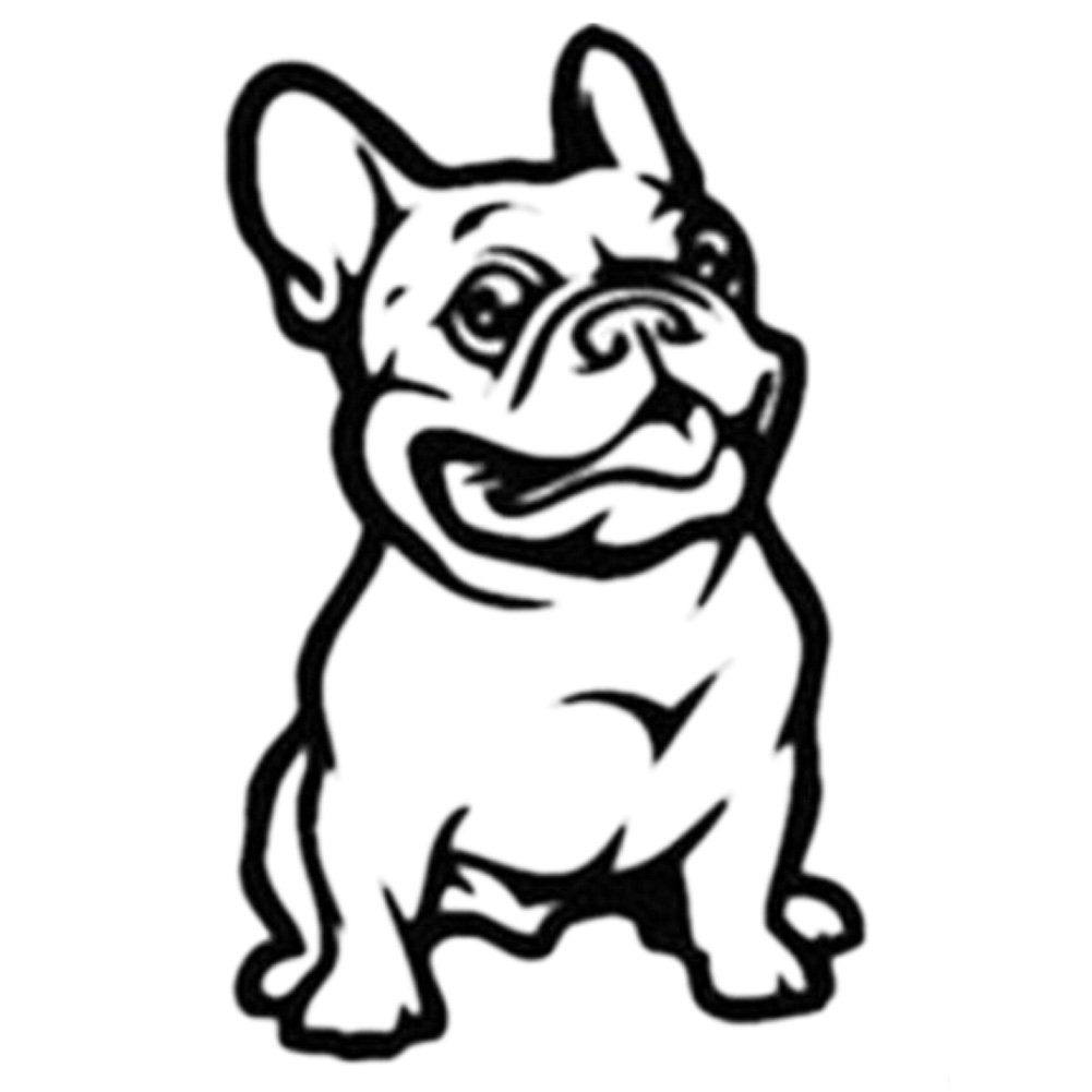 Hot Fashion French Bulldog Dog Car Sticker Pet Cars Decal Waterproof Auto Styling Cartoon Car Stickers
