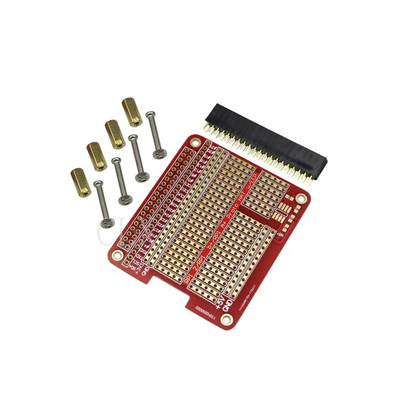 DIY Proto HAT Shield Extension Board For Raspberry Pi 4 Model B / 3B+ / 3B Red RPI GPIO Board