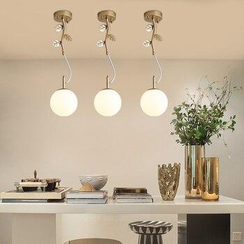 Led living room lighting Nordic chandelier post-modern minimalist home personality creative bar restaurant light LU808115