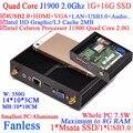 Безвентиляторный пк с Intel Celeron Quad Core J1900 CPU HDMI VGA двойной дисплей маленький размер алюминий 1 Г RAM 16 Г SSD windows или linux