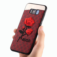 luxury brand new design protective case For samsung galaxy s8 or s8 plus back cover with embroidery craft and metal process