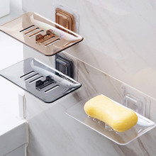 home office hotel bathroom WC gray chocolate transparent paste style soap holder dish box free shipping