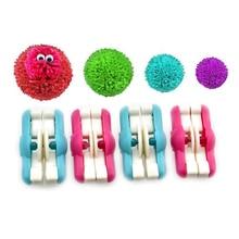2pcs/lot Mini Pompom Pom-pom Maker for Fluff Ball Weaver Needle Knitting Craft DIY Wool Tool Set Decoration