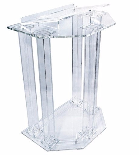 Free Shipping clean Newest fashion design acrylic pulpit of the church, Custom clear acrylic pulpit of the church free shipping organic glass pulpit church acrylic pulpit of the church