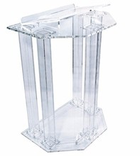 Free Shipping clean Newest fashion design acrylic pulpit of the church, Custom clear acrylic pulpit of the church
