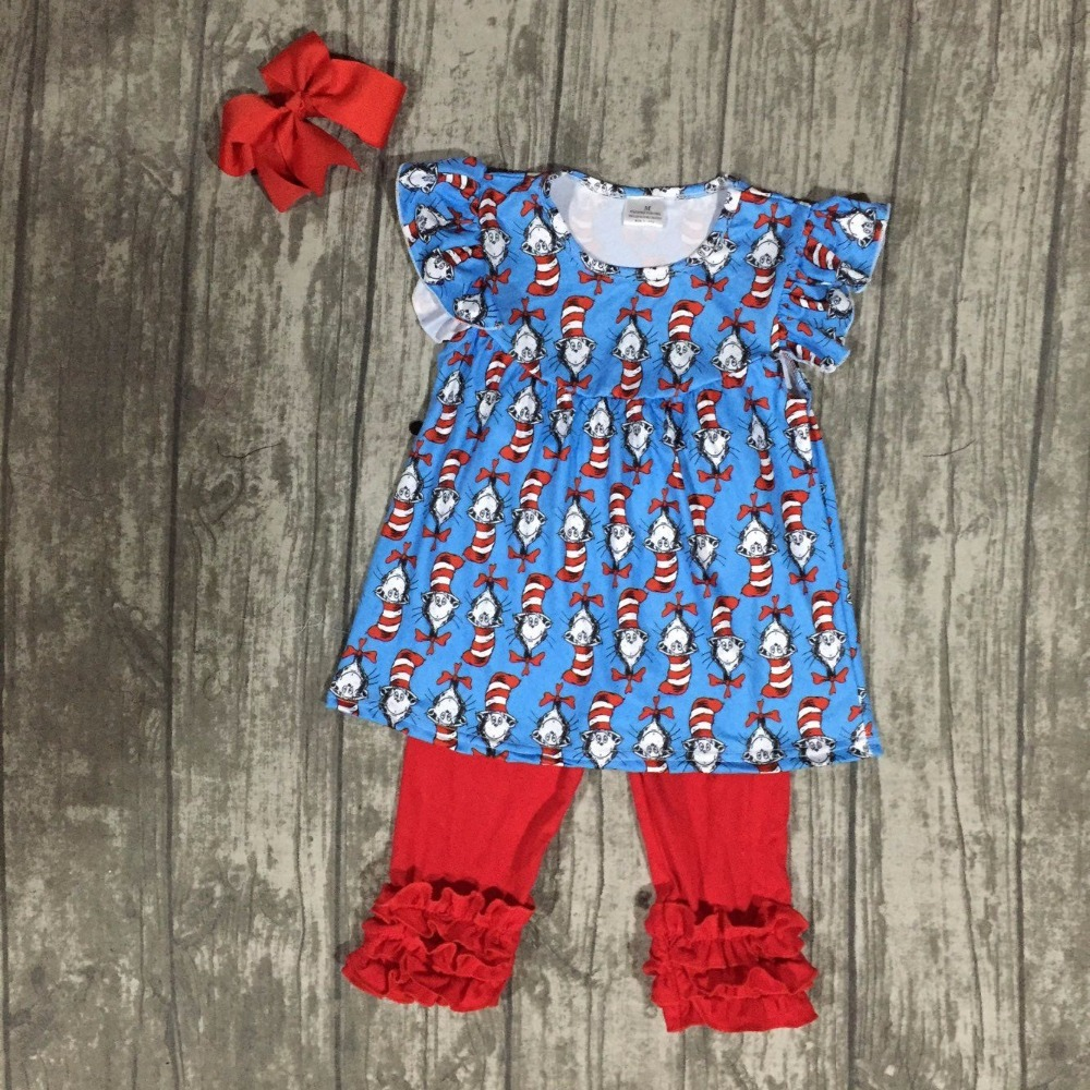 new arrival summer baby girls outfits blue red capris kids wear boutique cotton ruffles children clothes with match accessories lole капри lsw1349 lively capris xl blue corn
