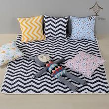 Купить с кэшбэком Baby Cavans Cushion Play Mat for Teepee Tent Foldable Kids Game Floor Mats Children Room Decoration Carpet Pads Cloth