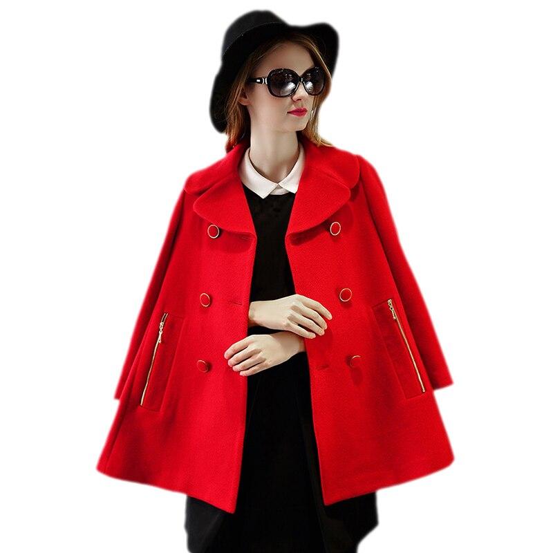 S XL Red Winter Coat font b Women b font Fashion font b Clothing b font