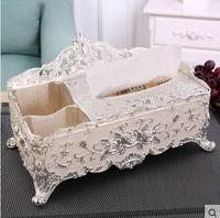 European Gold Napkin Box Napkin Paper Holder Removable Tissue Box Metal Storage Box Tabletop Organizer