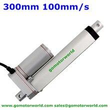 Умный мини-линейный исполнительный механизм 12V 24V 300 мм ход 1600N 160 кг 352LBS нагрузки 100 мм/сек. скорость линейный привод производитель