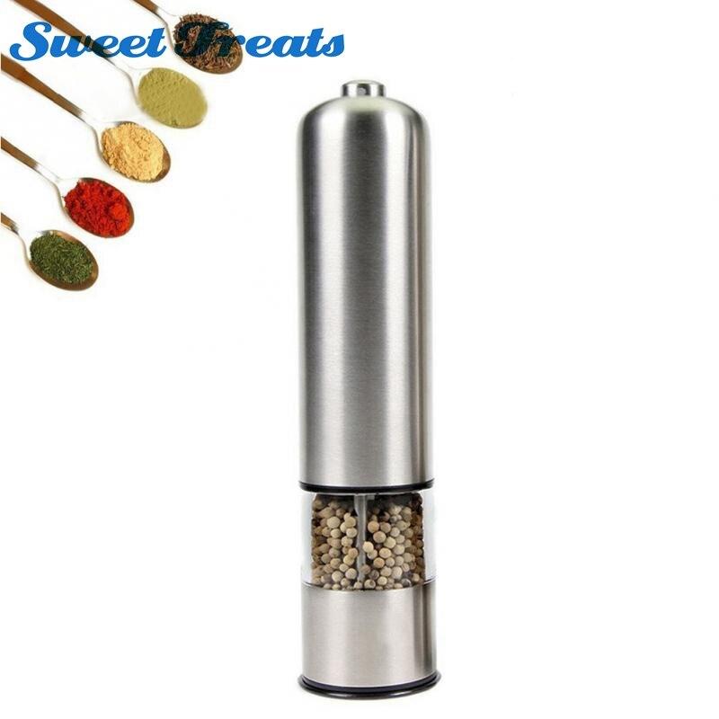Sweettreats Elettrico In Acciaio Inox Sale Pepe Mill Spice Grinder Muller Attrezzo Della Cucina