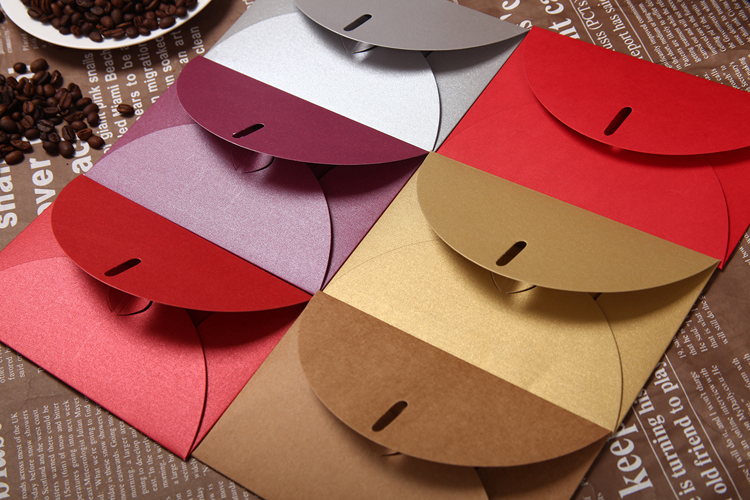 Vintage Grassy Color Blank Envelopes 175X110mm Envelopes 210GMS Pearl Paper Envelopes 100PCS