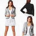 2016 Moda feminina casaco outwear cor sólida Outono Inverno senhoras mangas compridas jaqueta Plus Size S a 6XL