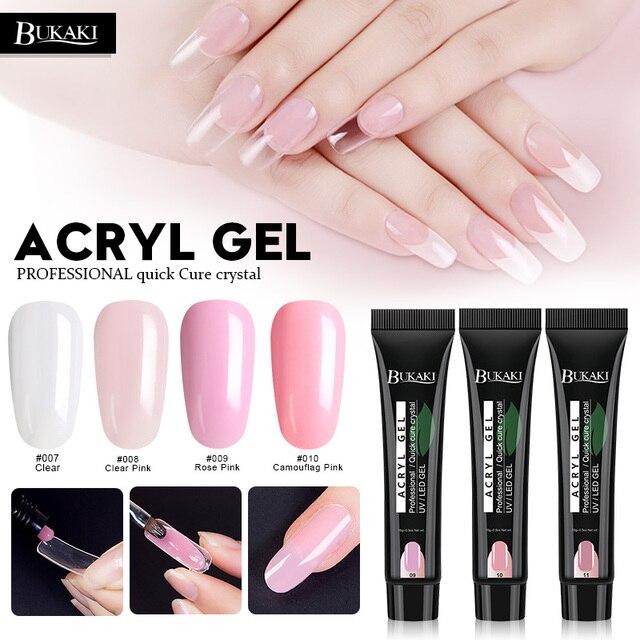 Bukaki Poly Gel Nail Art Uv Builder Tips Fake Glue Paint French