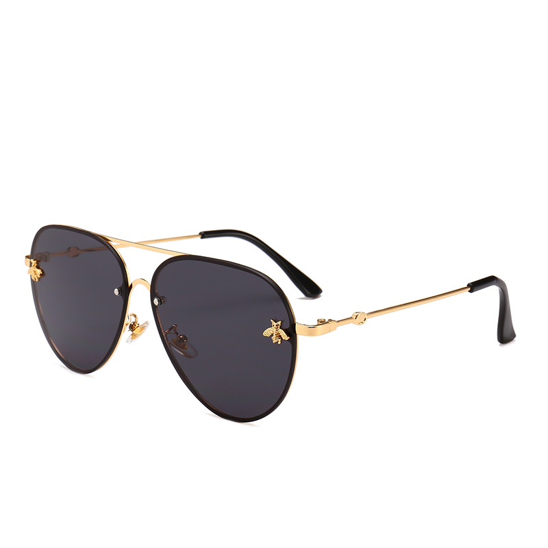 6575eb3cf6 Detail Feedback Questions about Aviator sunglasses Little Bee Sunglasses  Women2018 Metal Frame Vintage Benesse Brand Glasses Designer Fashion Female  Shades ...