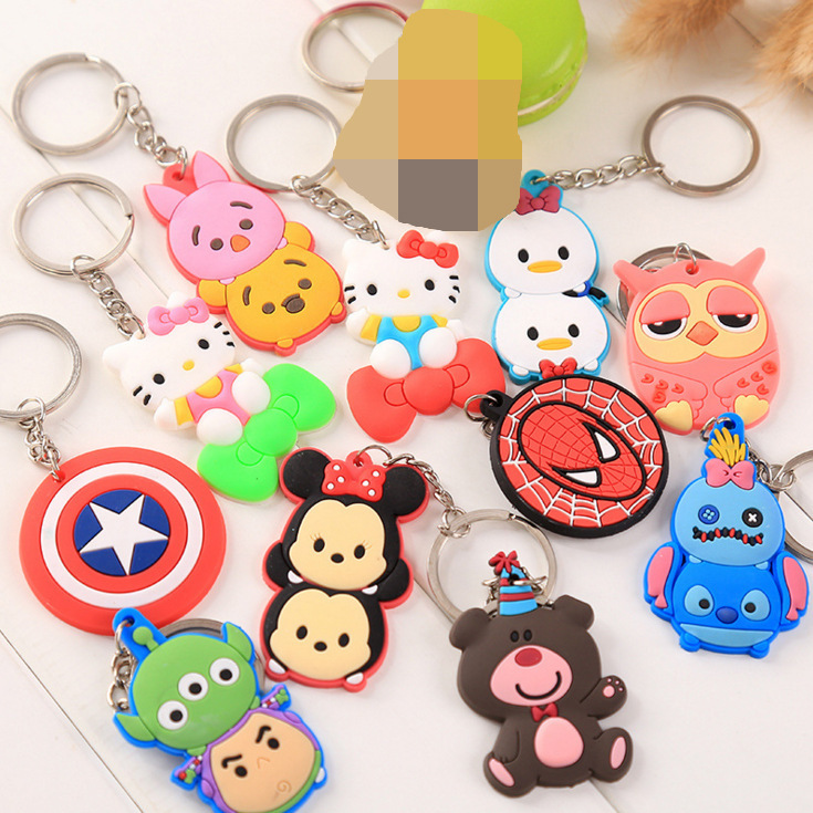 2019 New Series Keychain Jingle Cat Captain America Doll Design Keyring For Men Boy Schoolbag Charm Accessories