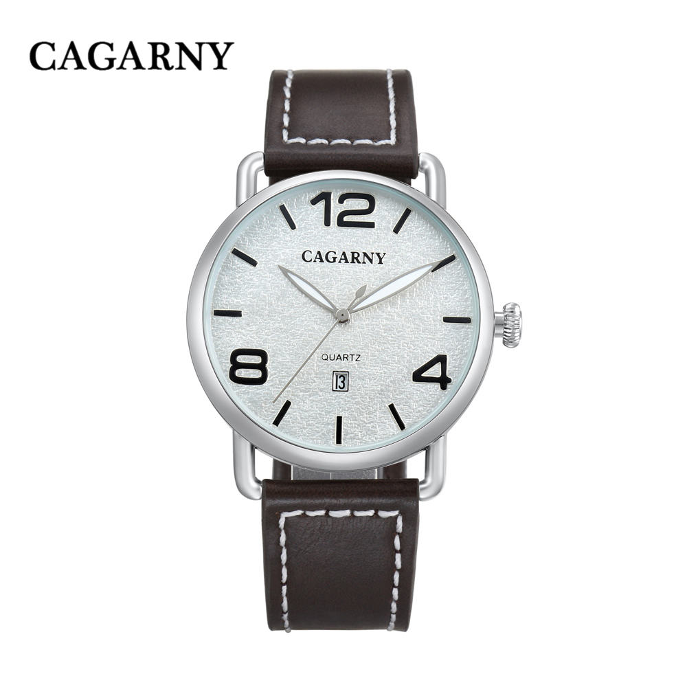 classic design high quality quartz watch men japaness movement genuine leather strap mens watches drop shipping (19)