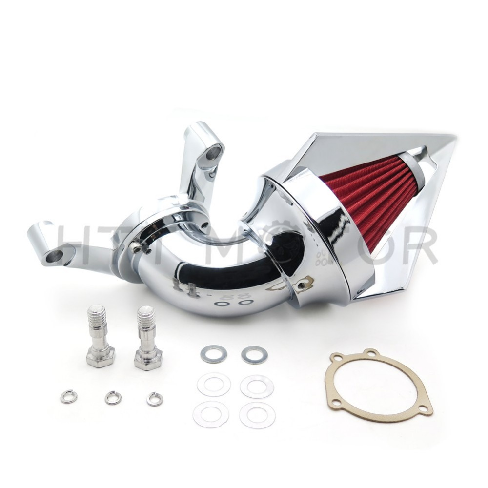 motorcycle parts Cone Spike Air Cleaner intake for  Harley Davidson CV Carburetor Delphi V-Twin CHROME купить