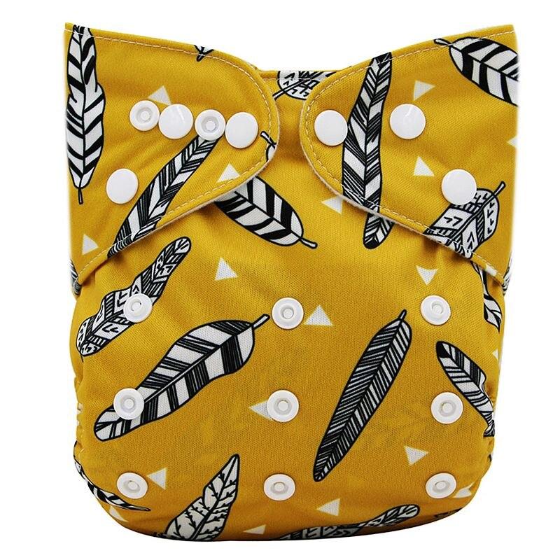 Ohbabyka, детские тканевые подгузники, многоразовые подгузники, унисекс, детские штаны для ухода за ребенком, водонепроницаемые тканевые подгузники с карманами, детские подарки для душа - Цвет: OB143