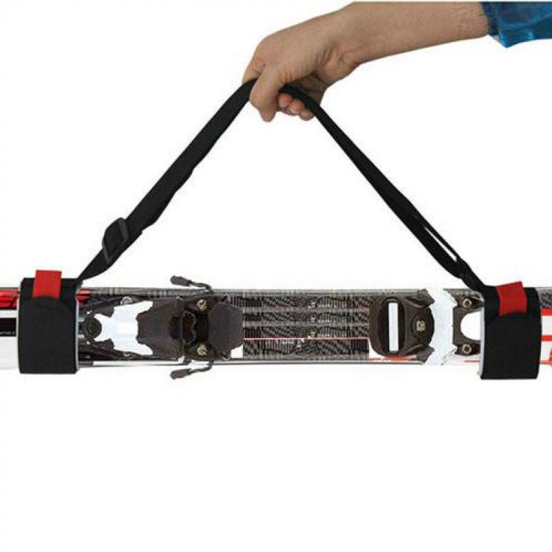 Adjustable Skiing Bags Skiing Pole Shoulder Hand Carrier Handle Straps Porter Hook Loop Ski Snowboard Protect Pole Tie Fastener