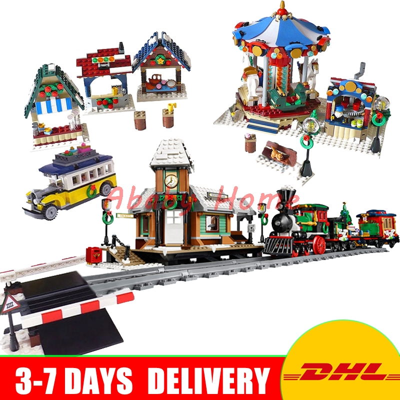DHL Lepin Genuine Creative Series 36001+36010+36011 Educational Building Blocks Bricks Toys Christmas Gifts 10254 10235 10259 lepin 36010 creative series 1412pcs the winter village market set 10235 building blocks bricks educational toys christmas gifts