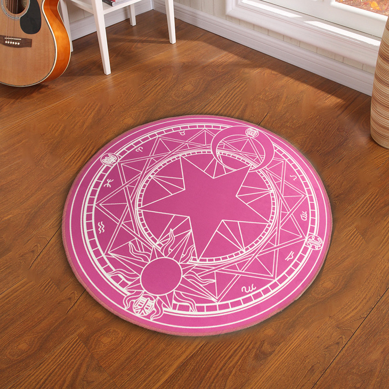 Pentacle Magic Array Round Carpet Living Room Pringting Mats Children Cartoon Star Rugs Circular Home Decorate Use In From Garden
