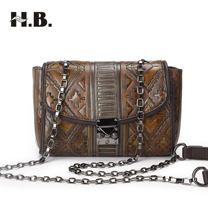 HIBO Women Bags Bolsa Feminina Messenger Bag Vintage Cross body Shoulder Bag Ladies Clutch Hand Bags Small Flap Handbags forudesigns casual women handbags peacock feather printed shopping bag large capacity ladies handbags vintage bolsa feminina