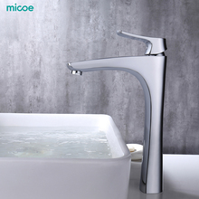 Micoe Basin Faucet Bathroom Tap Deck Mounted Waterfall Chrome Hot Cold Water Contemporary H-HC216