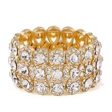 Crystal Rhinestones Gold Color Bracelets