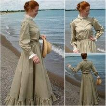 HIstory!Customer-made Black Victorian dress 1860s Civil war Dress Scarlett Theater Costume Halloween Renaissance Dress V-473