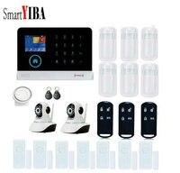 SmartYIBA Value Pack! Painel de Toque WIFI GPRS GSM Chamada SMS Sistema de Controle Remoto Sem Fio Com Fio de Alarme Home Intruder Segurança ControlSetting|Kits de sistema de alarme| |  -