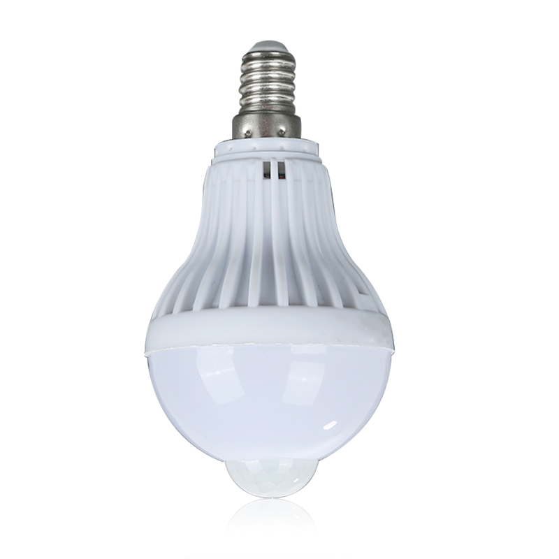 E14 5w Led Pir Motion Sensor Auto Energy Saving Light Lamp Bulb Light Cold White Warm White New