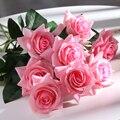 Искусственные розы из латекса, на ощупь, 11 шт./лот, на свадьбу, День Святого Валентина вечерние вечеринку, день рождения, украшение для дома