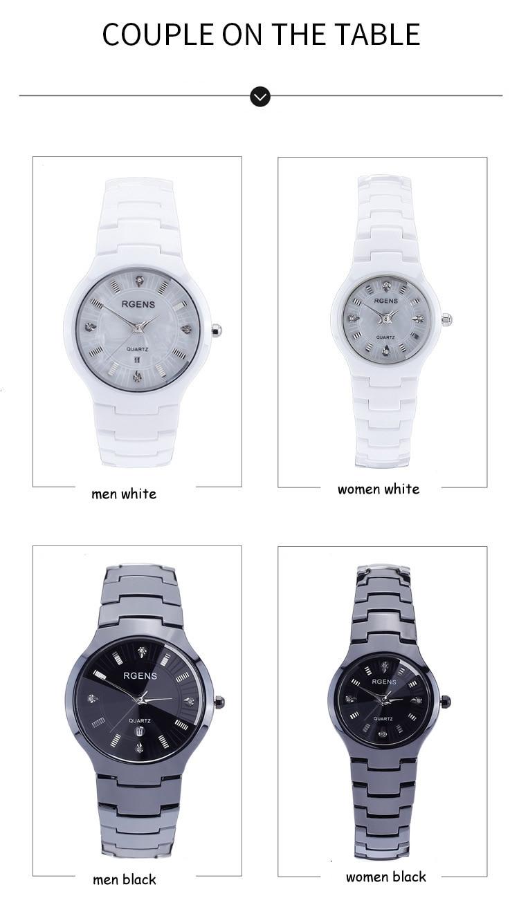 b758e51ab946 Para hombre mujer cerámica muñeca relojes negro cuarzo blanco ama hombre  reloj de moda casual impermeable pulsera de diamantes en Relojes de amor de  Relojes ...