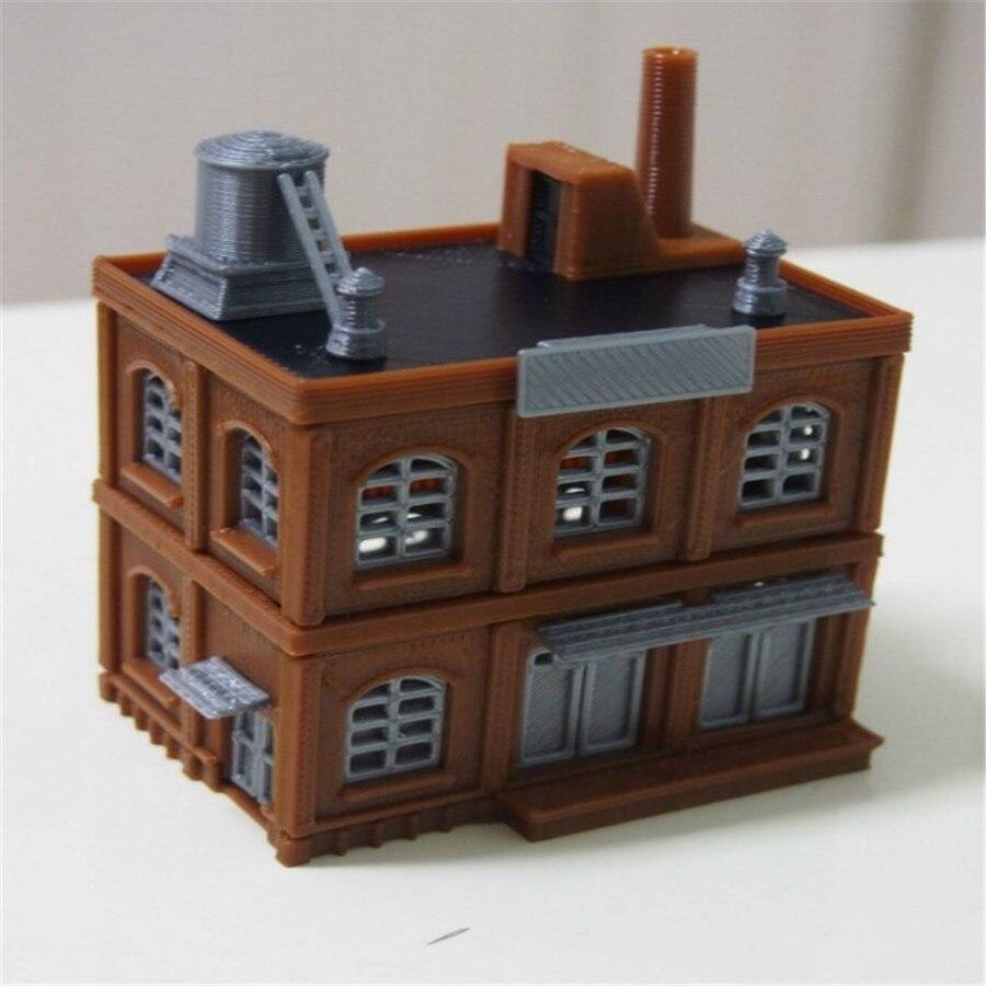 Train ferroviaire modèle scène N ratio 1: 160 industriel éolienne usine entrepôt immeuble de bureaux étage empilable