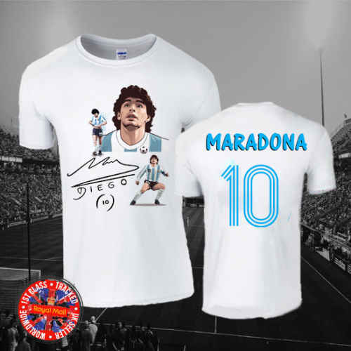c4800045ce0 Detail Feedback Questions about Diego Maradona Argentina Football T shirt,  Soccer, Boca, Napoli, Italy, 10, Gift Cool Casual pride t shirt men Unisex  ...
