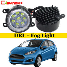 Cawanerl For 2001-2015 Ford Fiesta Car Light Source LED Fog Light Angel Eye DRL Daytime Running Light 12V Styling 2 Pieces(China)