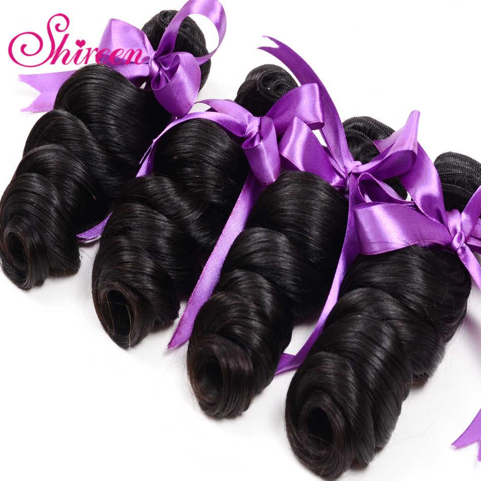 Shireen волосы, шиньдан, свободная волна, 4 шт., 100%, Remy, человеческие волосы для наращивания, Натуральные Цветные волнистые волосы, пучки, бесплатная доставка