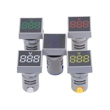 New 22MM AC 20-500V Voltmeter Square Panel LED Digital Voltage Meter Indicator Light цены
