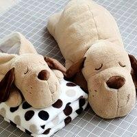 Cartoon cute pillow quilt dual cushions coral cashmere car office air conditioning pillow blanket