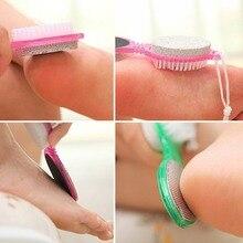 4 In 1 ABS Multi-Color Pedicure Tool Foot Nail Buffer Brush Callus Rasp Scrubs P
