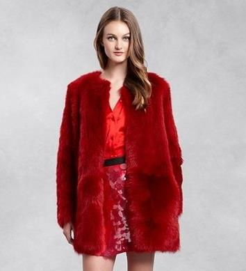 Popular Red Faux Fur Coat-Buy Cheap Red Faux Fur Coat lots from