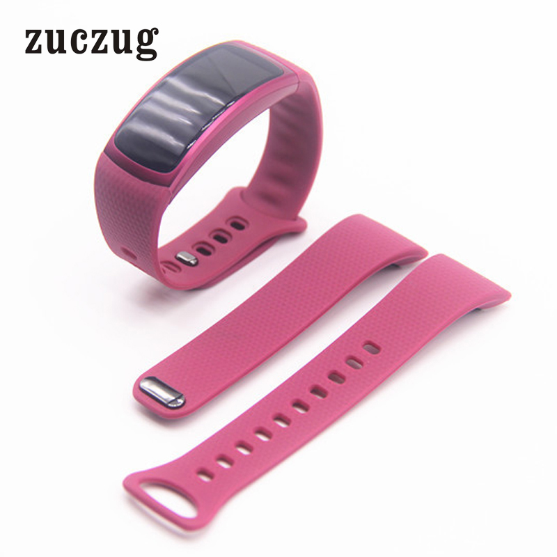 Zuczug High Quality 2017 Luxury Sports Silicone Replacement Watch Band Strap For Samsung Gear Fit 2 SM-R360 Wristband S/L Size